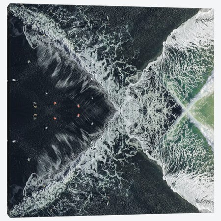 Beach VII Canvas Print #DLX8} by Danilo de Alexandria Art Print