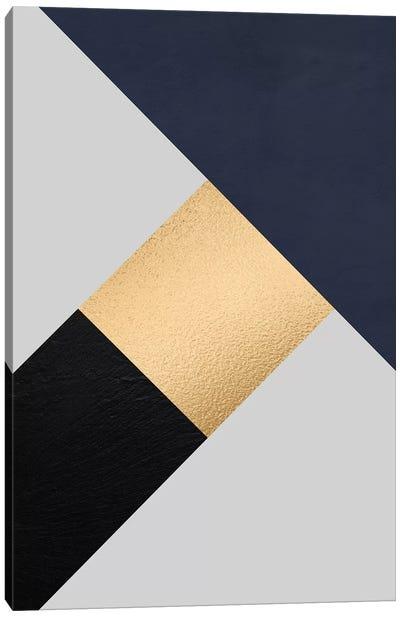 Modernian Golden IV Canvas Art Print