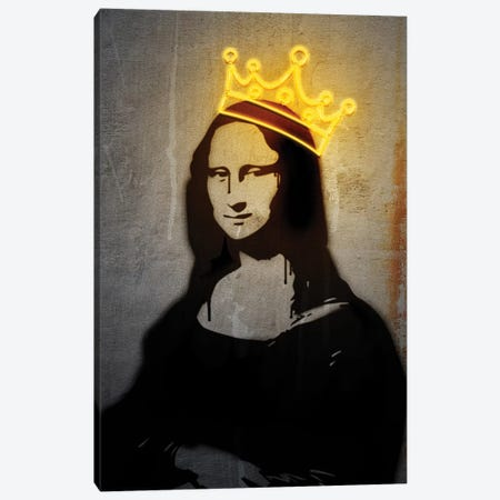 Neon Mona Lisa Canvas Print #DLX96} by Danilo de Alexandria Canvas Print