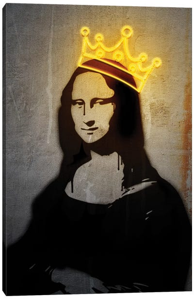 Neon Mona Lisa Canvas Art Print