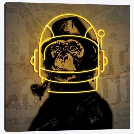 Neon Monkey Canvas Print #DLX97} by Danilo de Alexandria Art Print