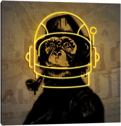 Neon Monkey Canvas Art Print