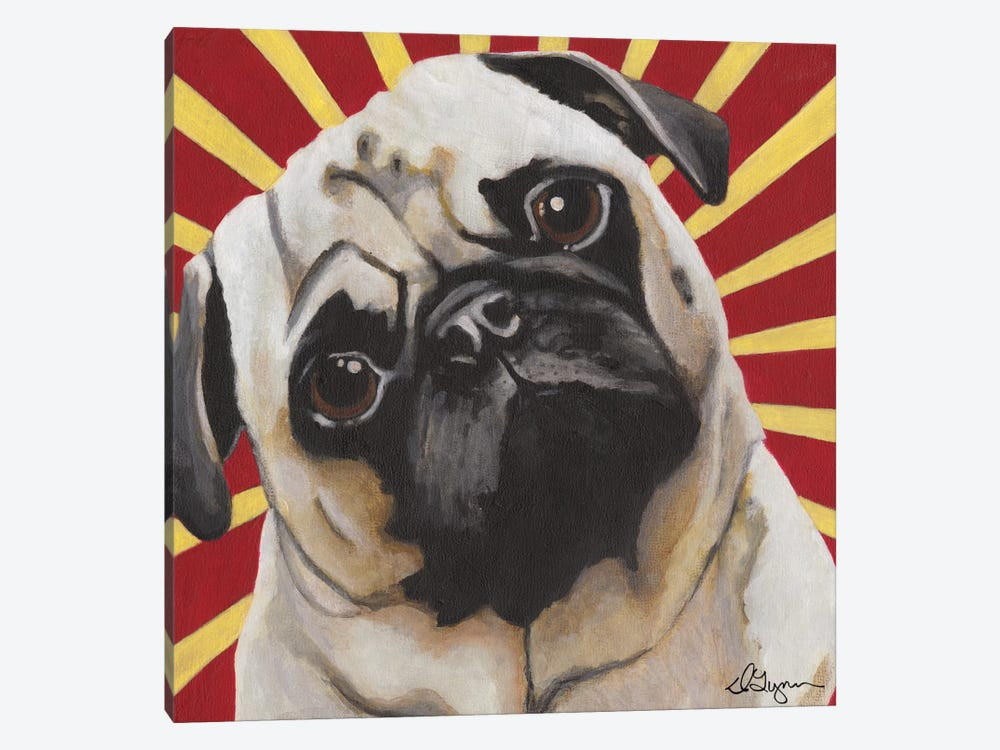 Puggins by Dlynn Roll 1-piece Canvas Print