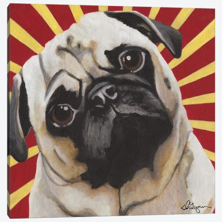 Puggins Canvas Print #DLY11} by Dlynn Roll Canvas Print