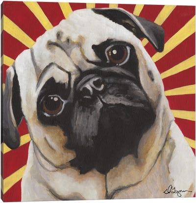 Puggins Canvas Art Print