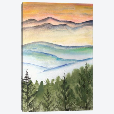 Blue Ridge Mountains Landscape Canvas Print #DMC10} by Derek McCrea Canvas Art