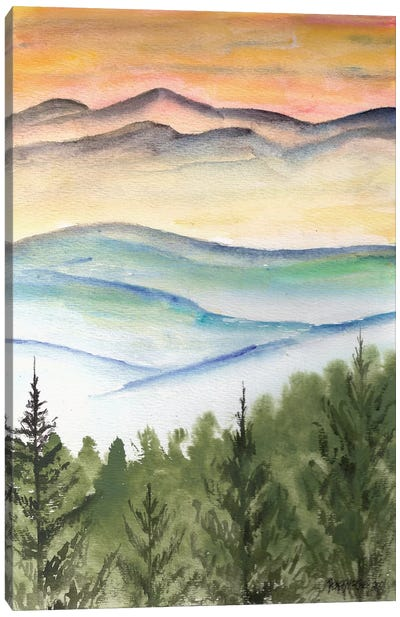 Blue Ridge Mountains Landscape Canvas Art Print