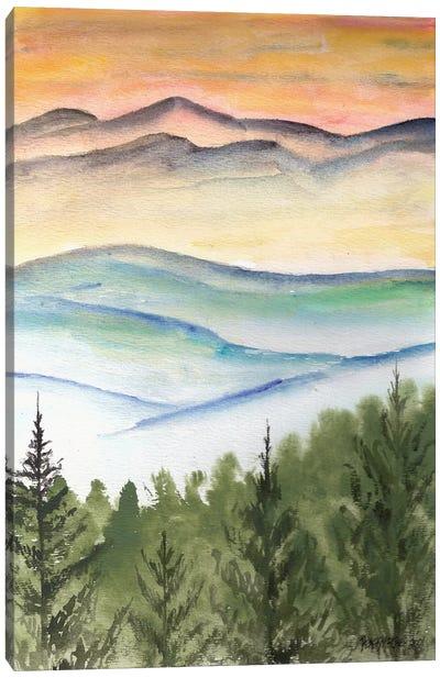 Blue Ridge Mountains Landscape Canvas Art Print