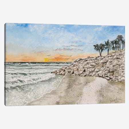Bradenton Beach Painting Canvas Print #DMC11} by Derek McCrea Canvas Wall Art