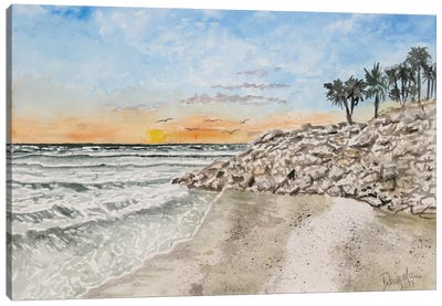 Bradenton Beach Painting Canvas Art Print
