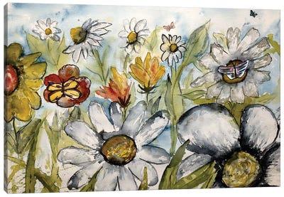 Butterflies And Flowers Canvas Art Print
