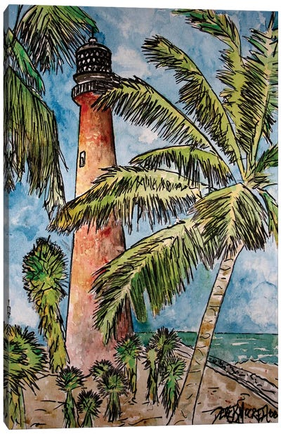 Cape Florida Lighthouse Canvas Art Print