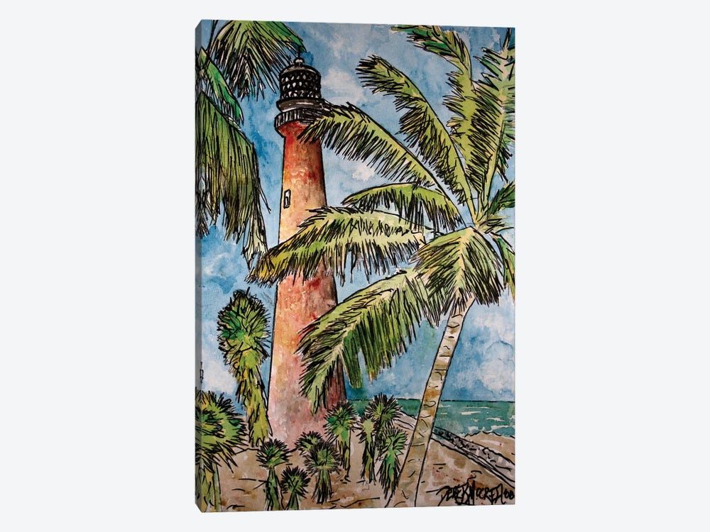Cape Florida Lighthouse by Derek McCrea 1-piece Canvas Art