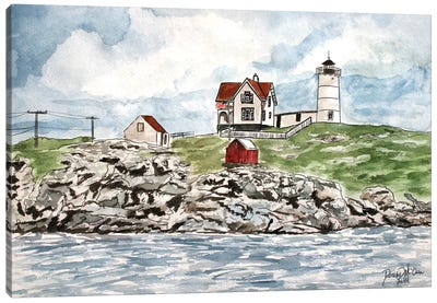 Cape Neddick Lighthouse Canvas Art Print