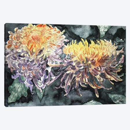 Chrysanthemum Flowers I Canvas Print #DMC19} by Derek McCrea Canvas Artwork