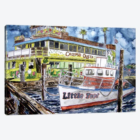 Clearwater Boat Canvas Print #DMC21} by Derek McCrea Canvas Art Print