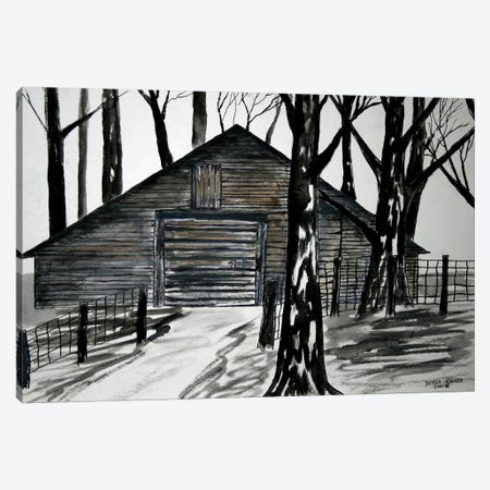 Country Barn Canvas Print #DMC23} by Derek McCrea Canvas Art Print