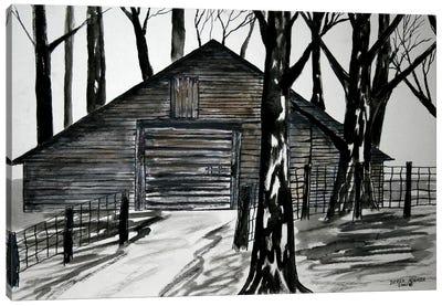 Country Barn Canvas Art Print