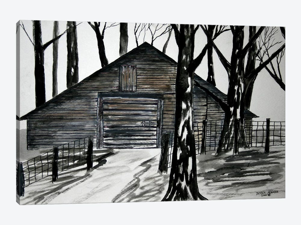 Country Barn by Derek McCrea 1-piece Canvas Art Print