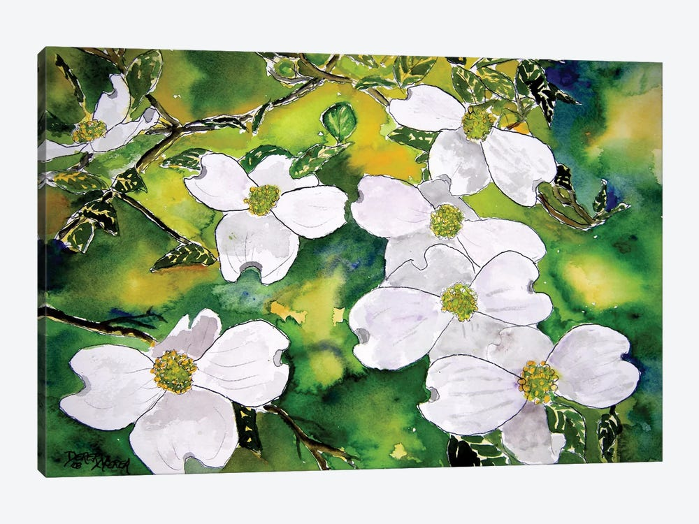 Dogwood Tree Flowers by Derek McCrea 1-piece Art Print