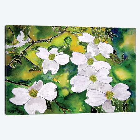 Dogwood Tree Flowers 3-Piece Canvas #DMC30} by Derek McCrea Canvas Wall Art