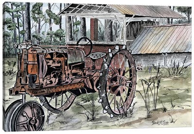 Farm Tractor Canvas Art Print