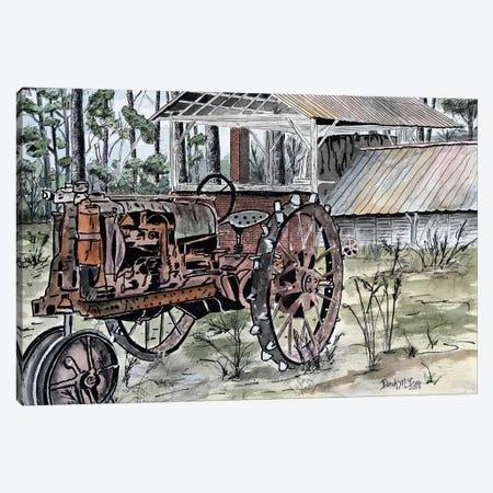 Farm Tractor 3-Piece Canvas #DMC34} by Derek McCrea Canvas Art Print