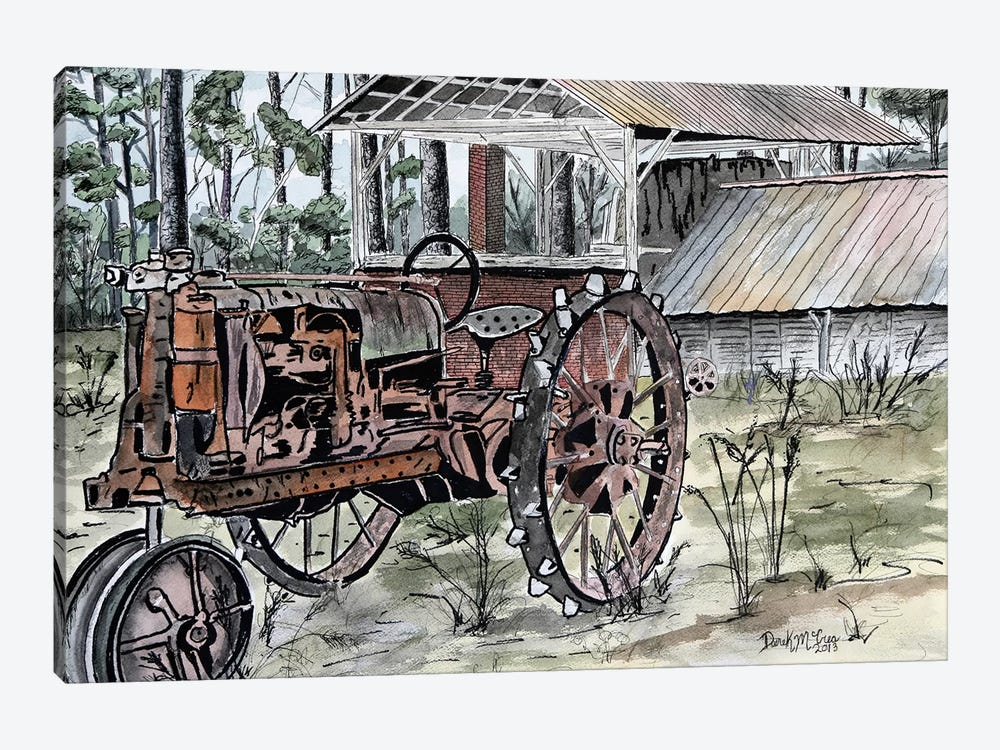 Farm Tractor by Derek McCrea 1-piece Art Print