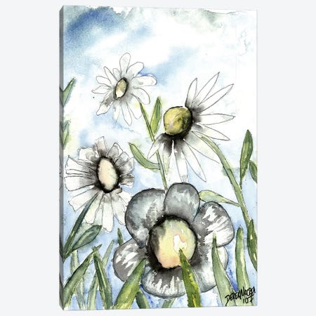 Field Of White Daisies 3-Piece Canvas #DMC35} by Derek McCrea Canvas Print