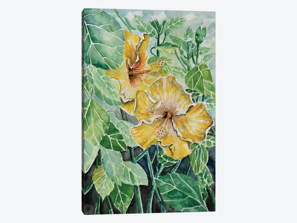 Hibiscus Flowers Tropical by Derek McCrea 1-piece Art Print