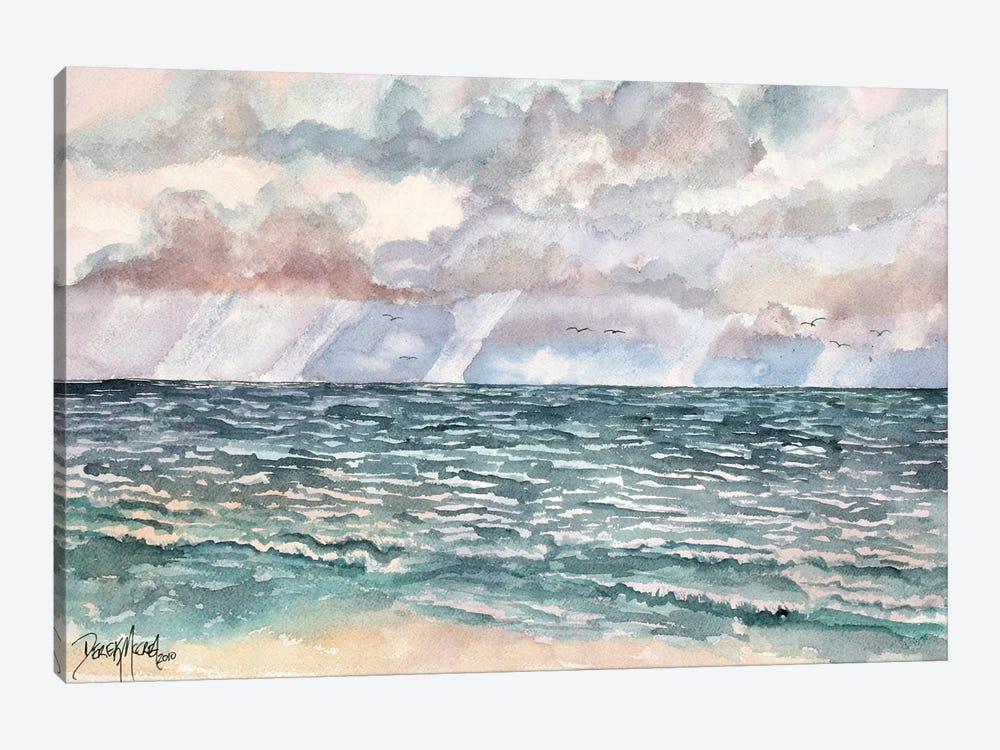 Lavender Seascape by Derek McCrea 1-piece Canvas Wall Art