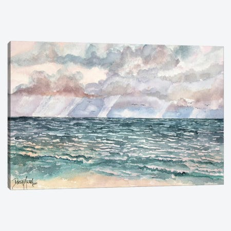 Lavender Seascape Canvas Print #DMC46} by Derek McCrea Canvas Artwork