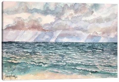 Lavender Seascape Canvas Art Print
