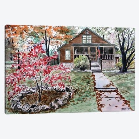 Log Cabin Canvas Print #DMC48} by Derek McCrea Canvas Print