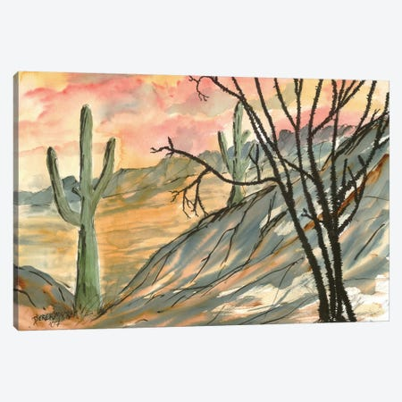 Arizona Evening, Southwest Canvas Print #DMC4} by Derek McCrea Canvas Art Print