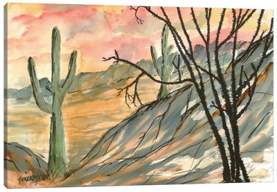 Arizona Evening, Southwest Canvas Art Print