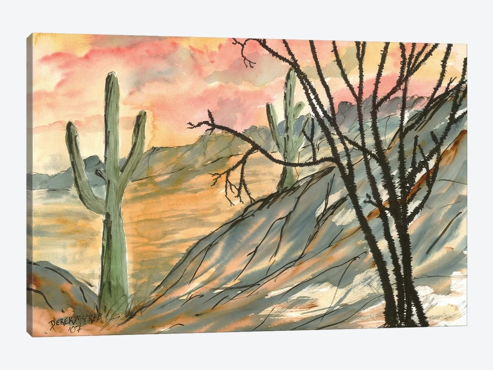 Arizona Evening, Southwest by Derek McCrea 1-piece Canvas Art Print