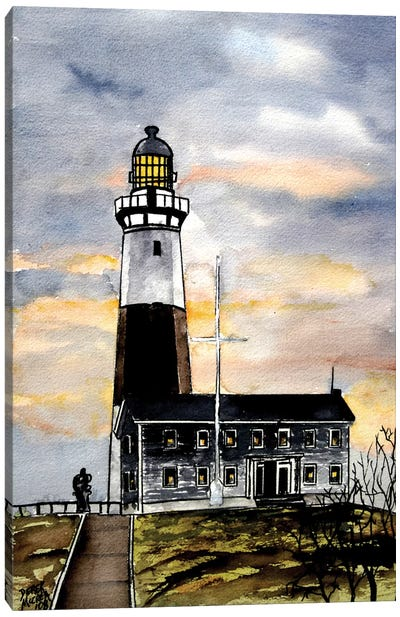 Montauk Point Lighthouse Canvas Art Print
