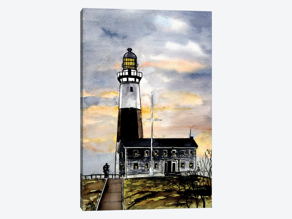 Montauk Point Lighthouse by Derek McCrea 1-piece Canvas Artwork