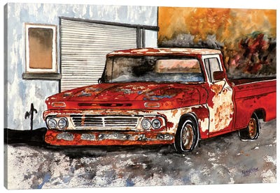 Old Chevy Truck Canvas Art Print