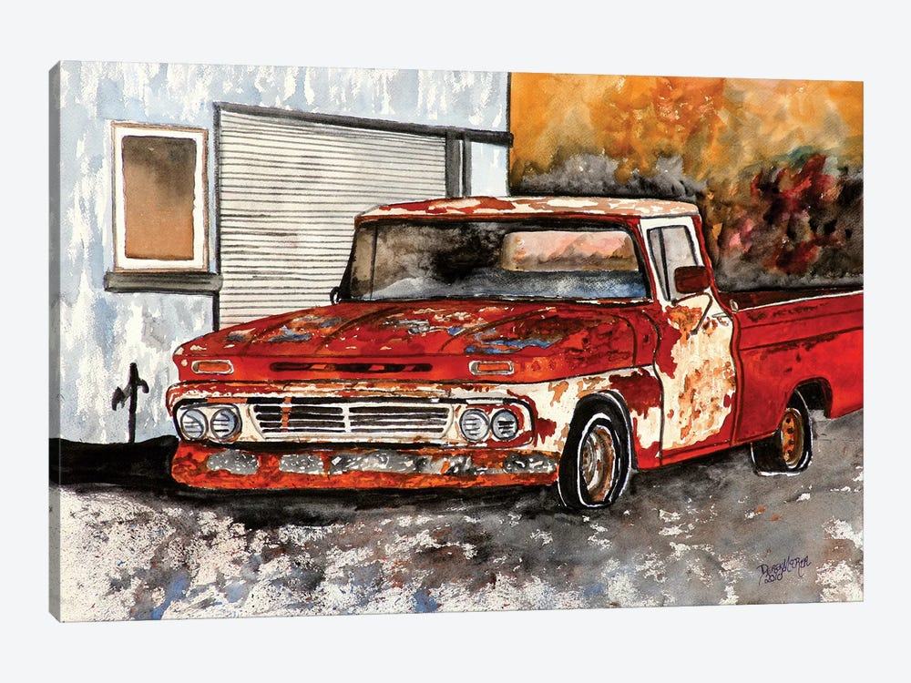 Old Chevy Truck by Derek McCrea 1-piece Canvas Artwork