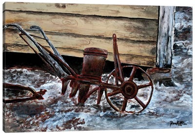 Old Farm Plow Canvas Art Print