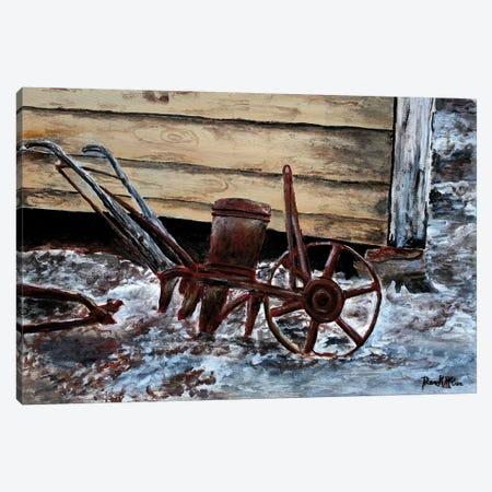 Old Farm Plow 3-Piece Canvas #DMC56} by Derek McCrea Art Print