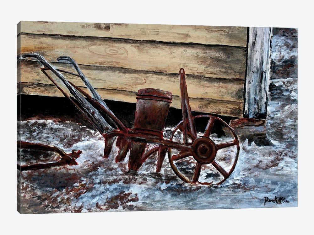 Old Farm Plow by Derek McCrea 1-piece Art Print