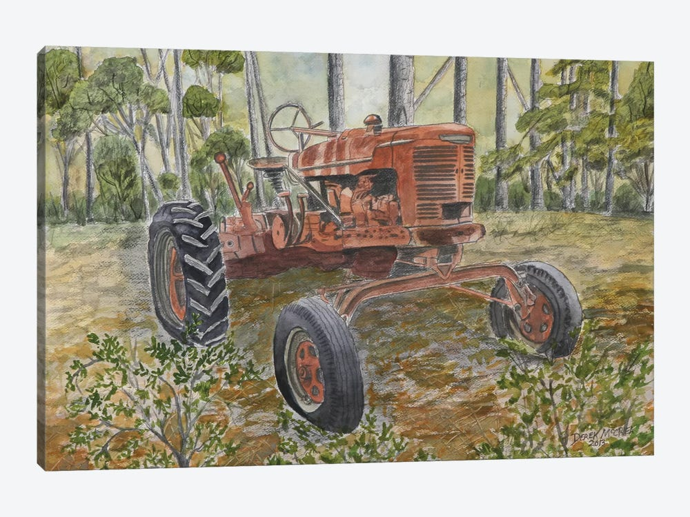 Old Tractor 1-piece Canvas Wall Art