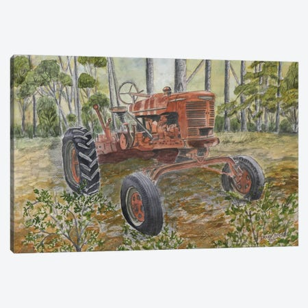 Old Tractor 3-Piece Canvas #DMC57} by Derek McCrea Art Print