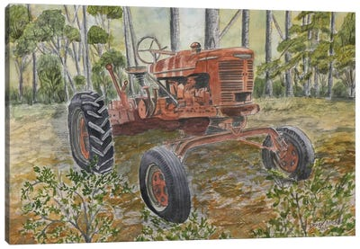 Old Tractor Canvas Art Print