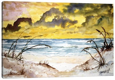 Beach Seascape Canvas Art Print