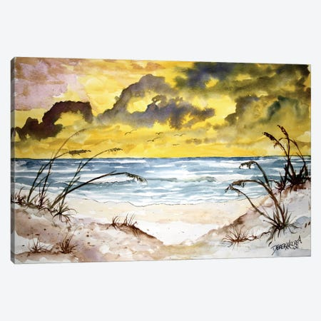 Beach Seascape Canvas Print #DMC5} by Derek McCrea Canvas Art Print
