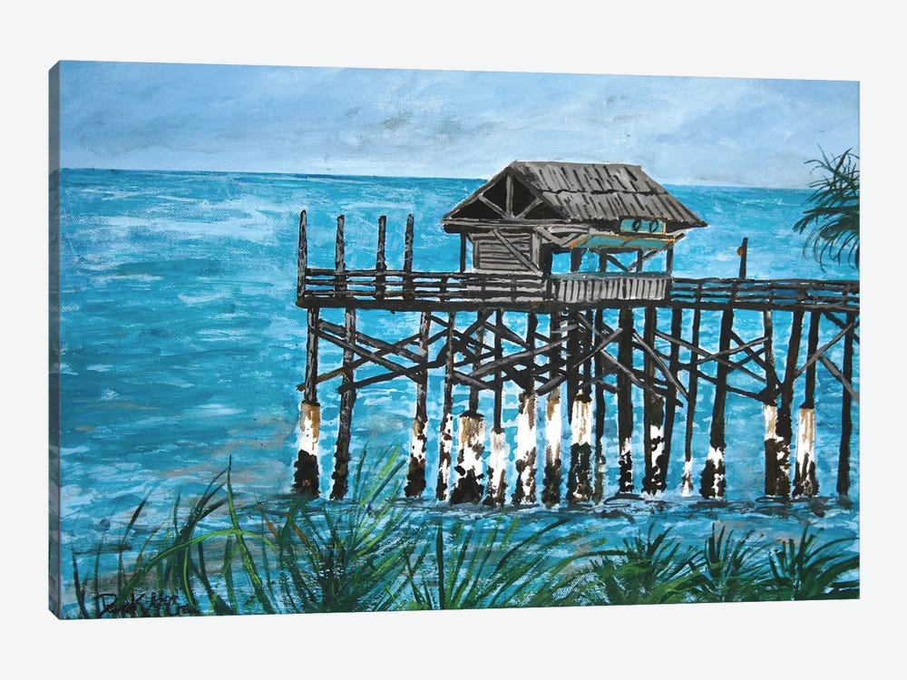 Pier Seascape by Derek McCrea 1-piece Canvas Wall Art